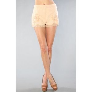 NWOT Free People Linen and Lace Trim Shorts